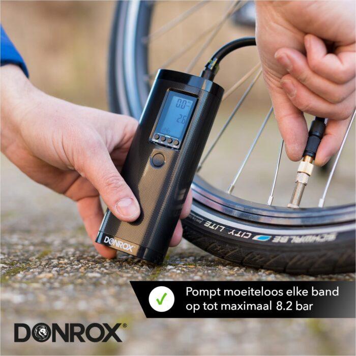Donrox F511 Ride minicompressor voor fietsbanden