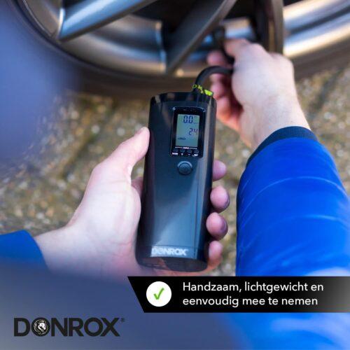 Donrox Ride F511. Handzame luchtpomp, lichtgewicht en eenvoudig mee te nemen