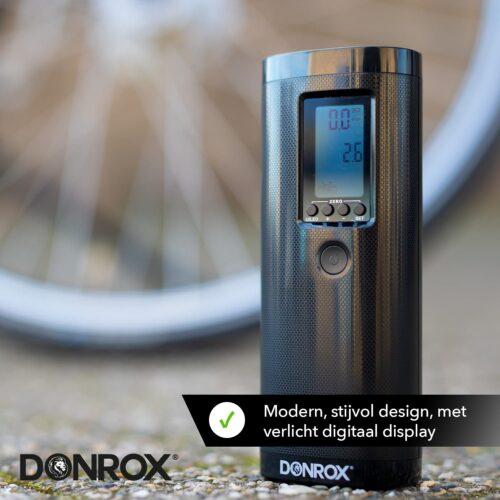 Donrox Boreas modern, stijlvol design met verlicht digitaal display