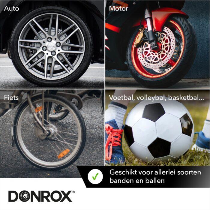 Donrox luchtpompjes voor auto, motor, fiets en ballen
