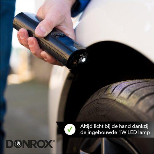 Donrox elektrische luchtpomp met ingebouwde zaklamp