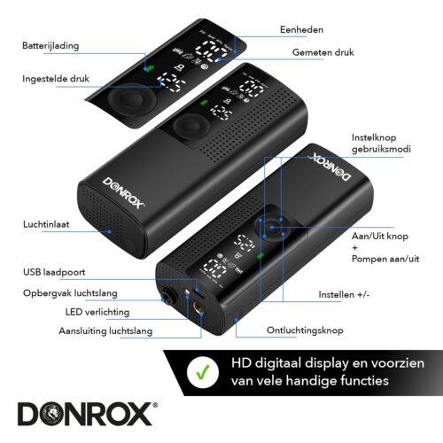 Donrix Ride F522 functies